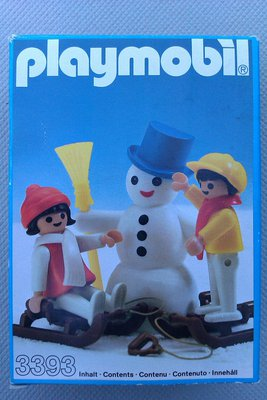 Playmobil 3393 - Snowman With Children - Box