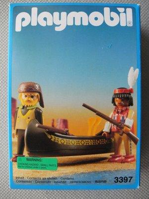 Playmobil 3397-fra - Trackers Canoe - Box