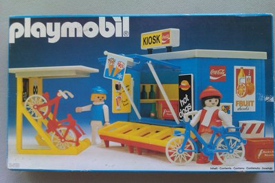 Playmobil 3418 - Kiosk And Bicyclists - Box
