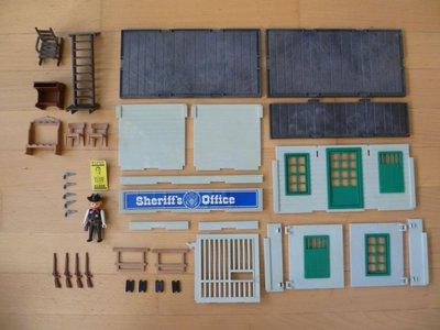 Playmobil 3423v1 - Sheriff's Office - Back