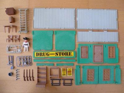 Playmobil 3462v1 - Drug Store - Back