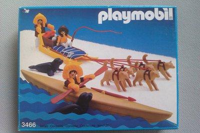 Playmobil 3466 - Kayak And Dog Sled - Box
