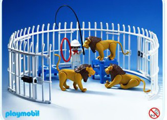 Playmobil - 3517s1v2 - Lions, Cage and Trainer