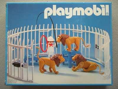Playmobil 3517s1v2 - Lions, Cage and Trainer - Back