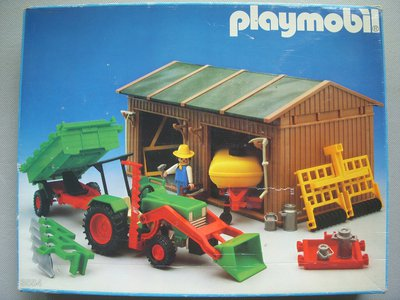 Playmobil 3554 - Shed / Tools / Tractor - Box