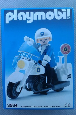 Playmobil 3564s2v2 - Policeman On Motorcycle - Box