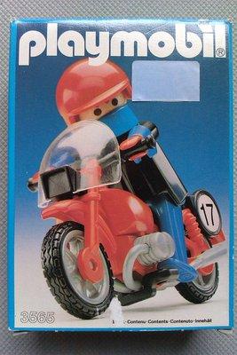 Playmobil 3565 - Motorrad/Rennfahrer - Box