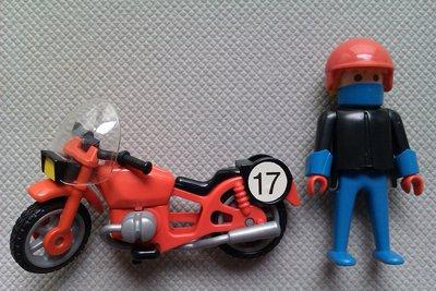 Playmobil 3565 - Motorrad/Rennfahrer - Back
