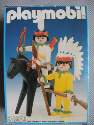 Playmobil 3580v1 - Mounted Indian And Brave - Box