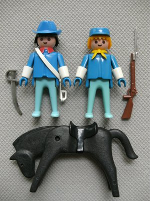 Playmobil 3582v1 - Union officer and soldier - Back