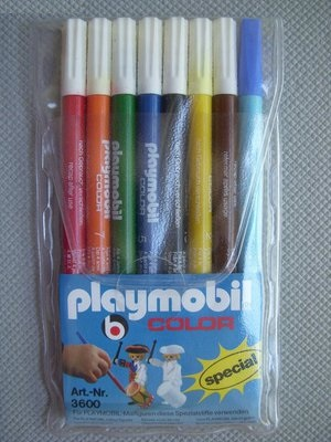 Playmobil 3600 - Color Markers, 8-pack - Back