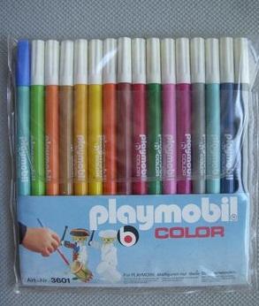 Playmobil 3601 - Pen Set 16 pieces - Back