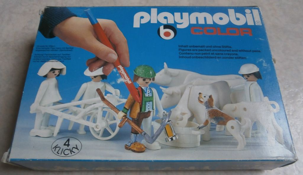 Playmobil 3612 - Farmers with cows - Box