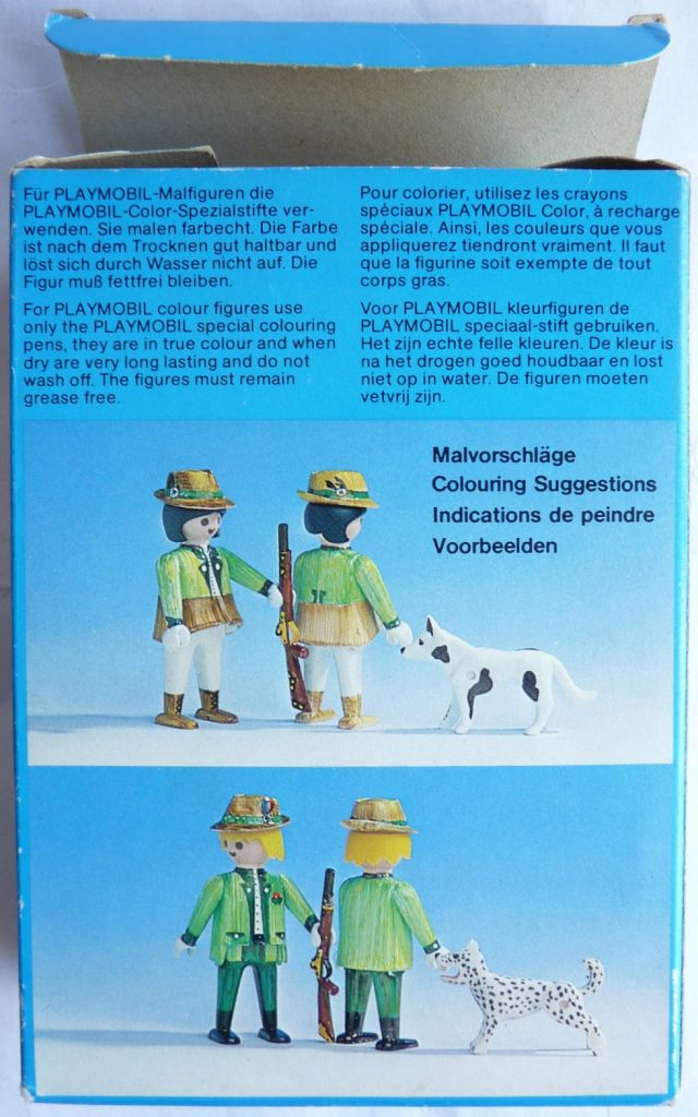 Playmobil 3617 - Hunters with dogs - Back