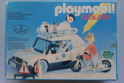 Playmobil 3680 - Traveller by car and biker - Box