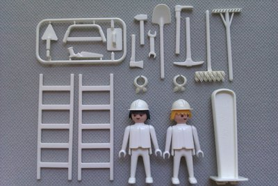 Playmobil 3691 - Construction Workers - Back