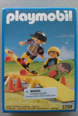 Playmobil 3709 - Children With Two Skate-Boards - Box