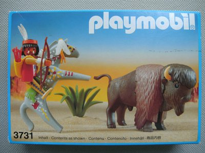 Playmobil 3731 - Indianer mit Bison - Box
