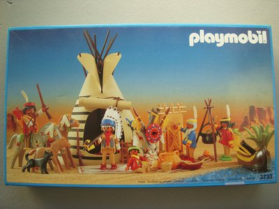Playmobil 3733v2 - Indian Camp - Box