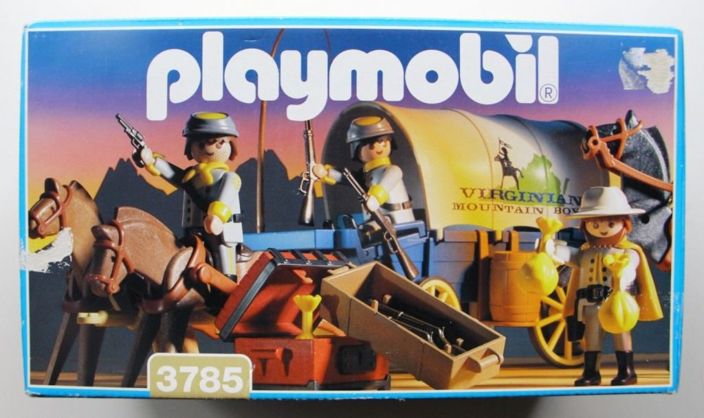 Playmobil 3785 - Confederate Covered Pay Wagon - Box