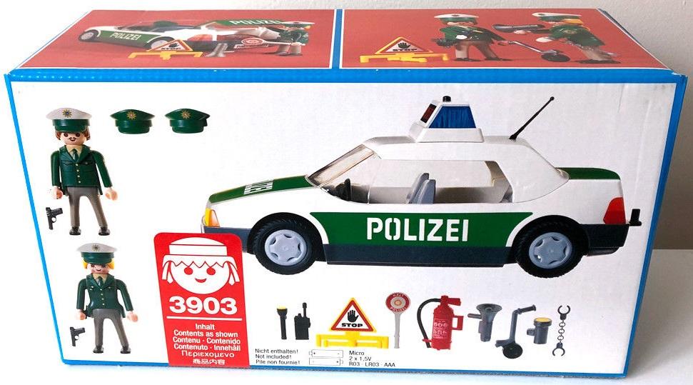 Playmobil 3903v1 - Police Car - Back