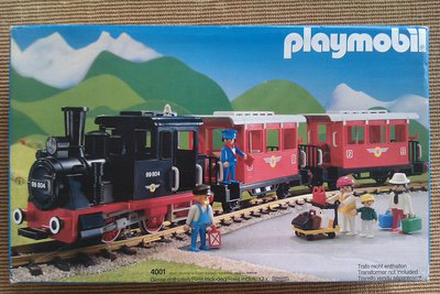 Playmobil 4001 - Passenger Train with Steam Locomotive - Box