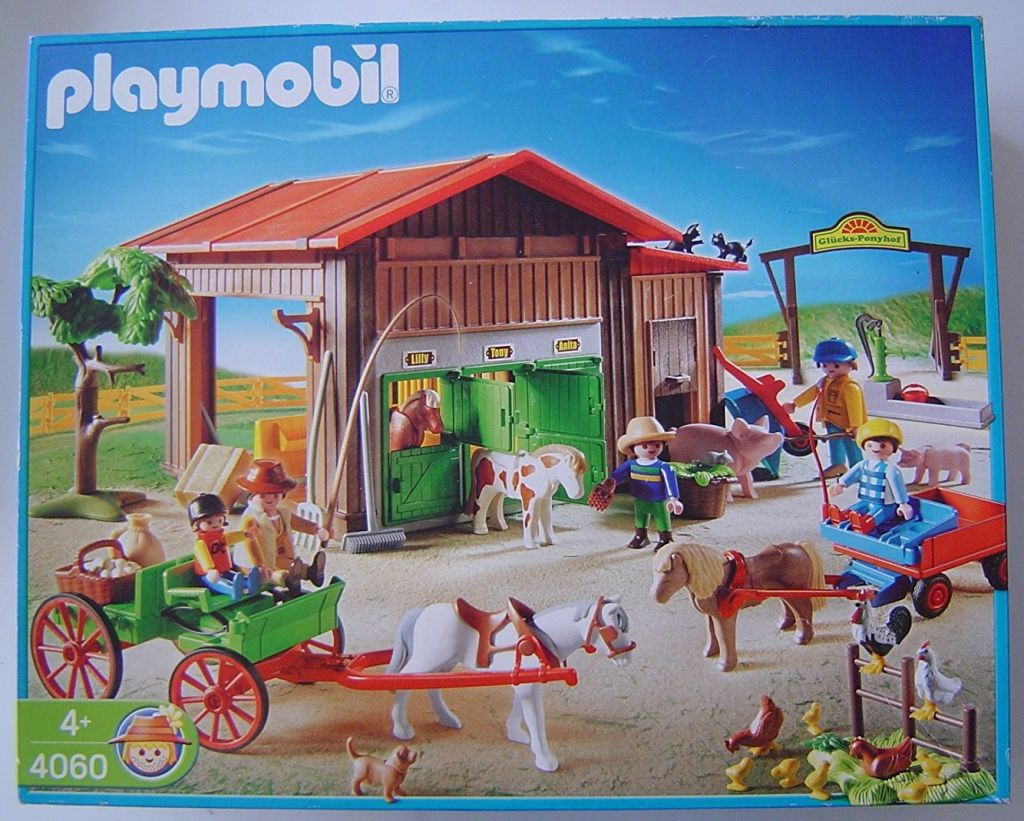 Playmobil 4060-ger - Pony Ranch - Box