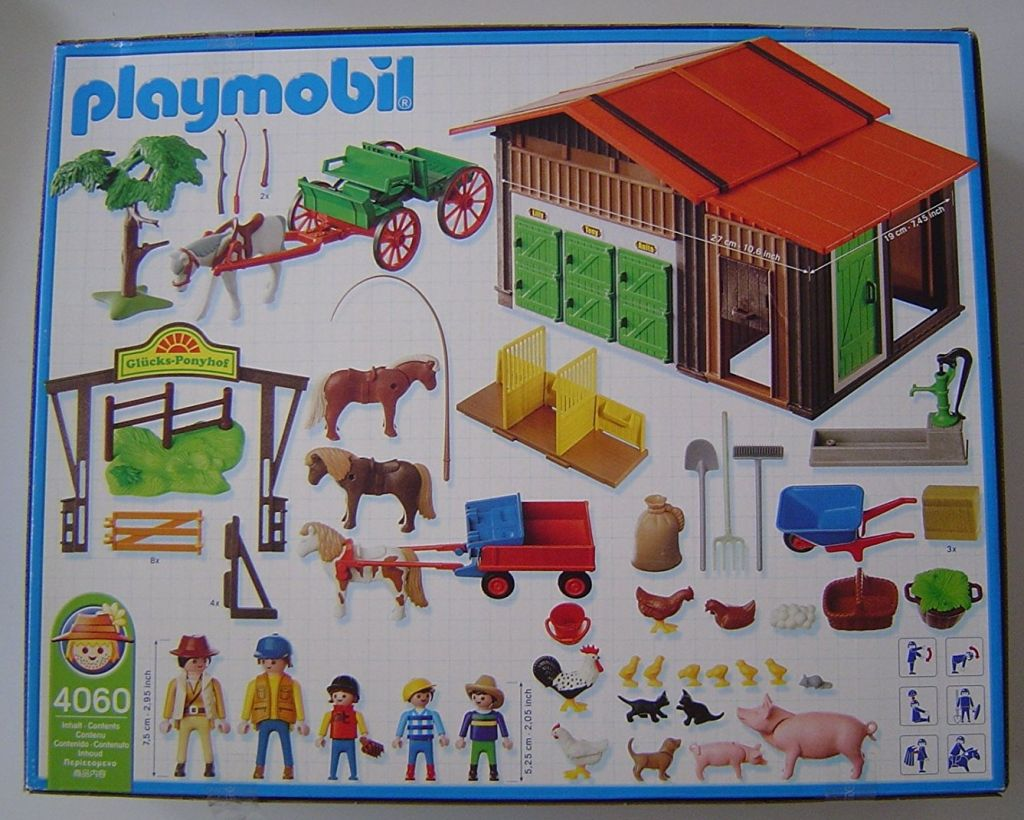 Playmobil 4060-ger - Pony Ranch - Back