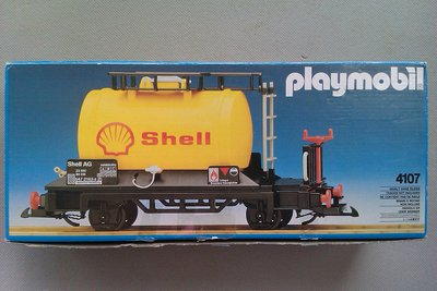 Playmobil 4107 - Shell Tanker Car - Box