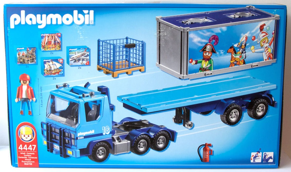 Playmobil 4447 - Playmobil Container Truck - Back