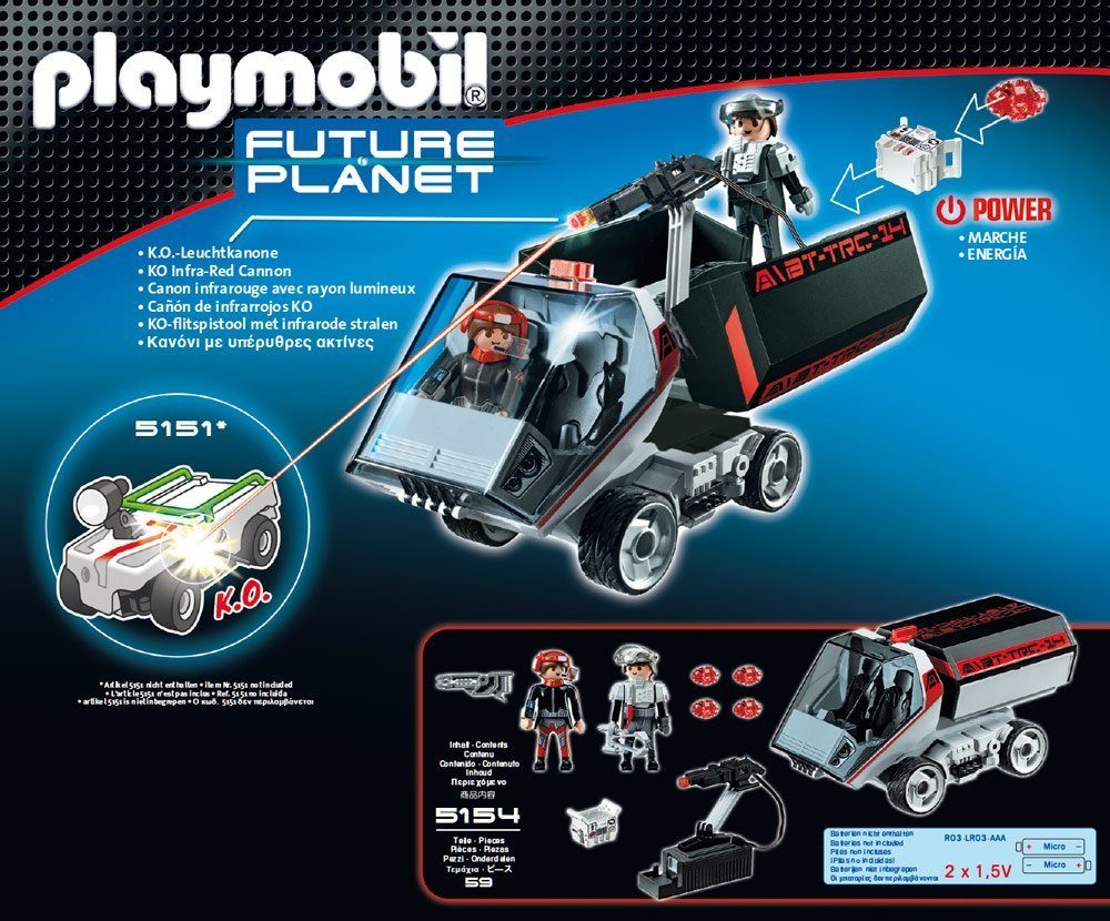 Playmobil 5154 - Darksters Truck with Laser Cannon - Back