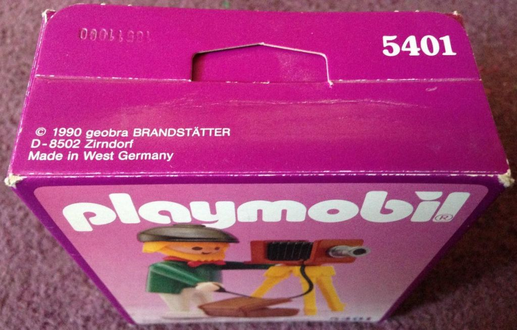 Playmobil 5401v2 - Photographer - Back
