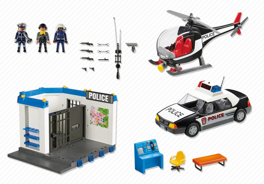 Playmobil 5607 - Police Set - Back