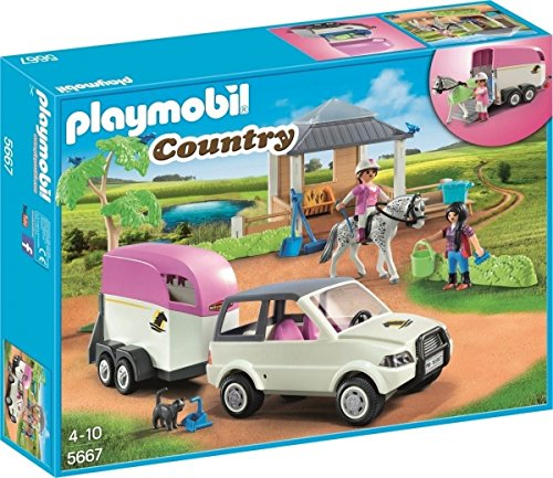 Playmobil 5667v2 - Horse stable with trailer - Box