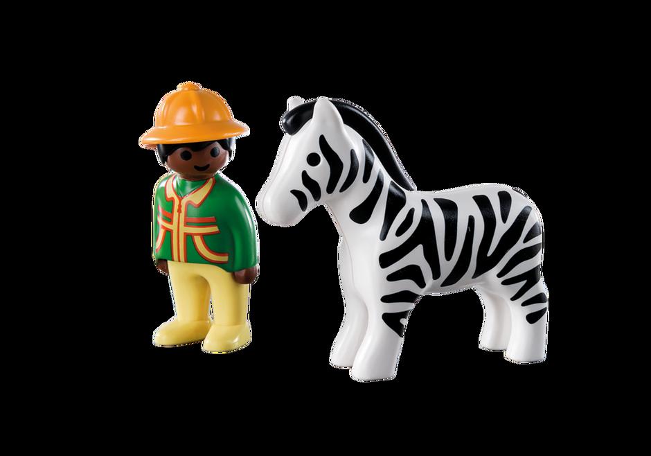 Playmobil 9257 - Ranger with Zebra - Back
