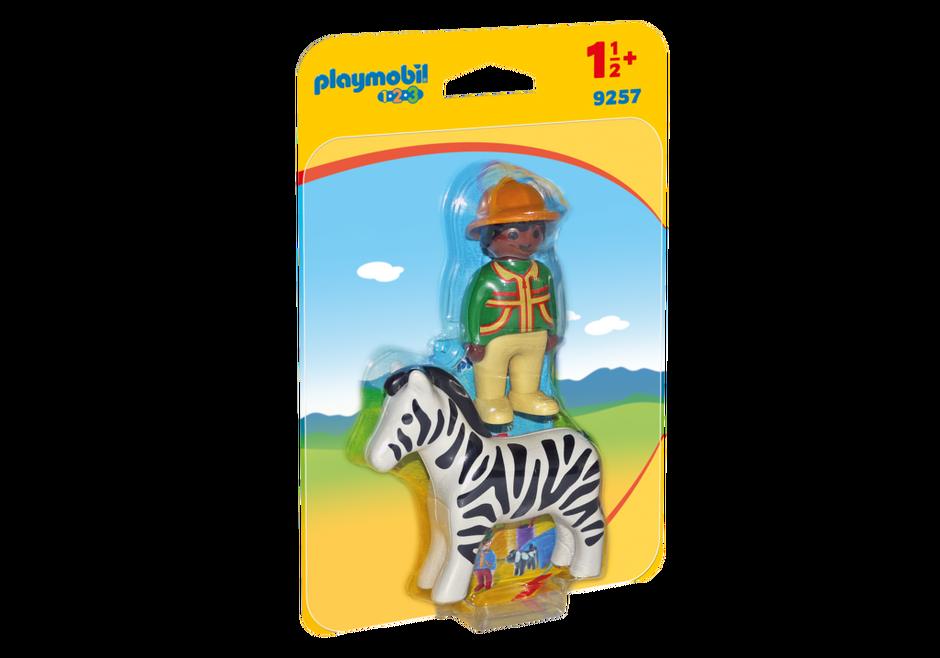 Playmobil 9257 - Ranger with Zebra - Box