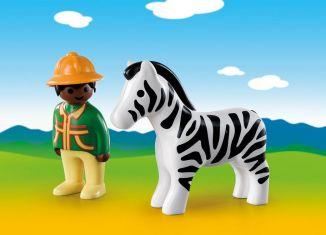 Playmobil - 9257 - Ranger with Zebra