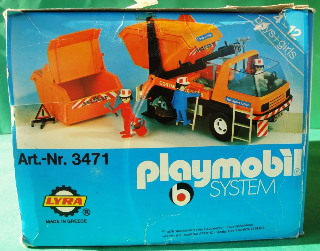 Playmobil 3471-lyr - Dumpster Truck - Box