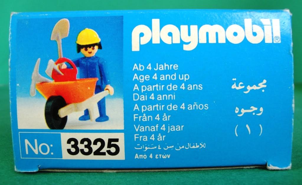 Playmobil 3325-lyr - Construction Worker - Back