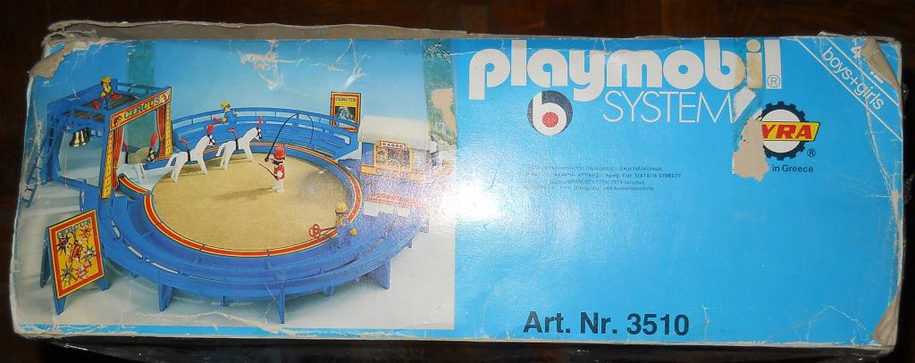 Playmobil 3510-lyr - Circus Arena Blue - Back