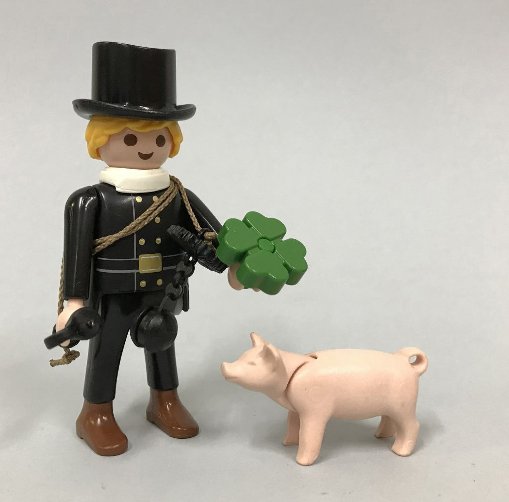 Playmobil 9296 - Chimney sweep with lucky pig - Back