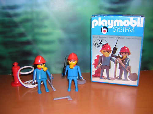 Playmobil 3162s1 - 2 Firefighters - Back