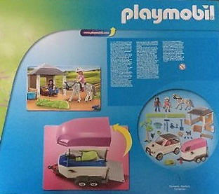 Playmobil 5667-gre - Horse Stable with Trailer - Back