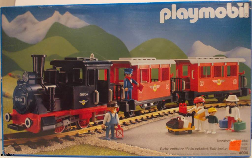 Playmobil set 4004 fra passenger train with steam - Train playmobil ...
