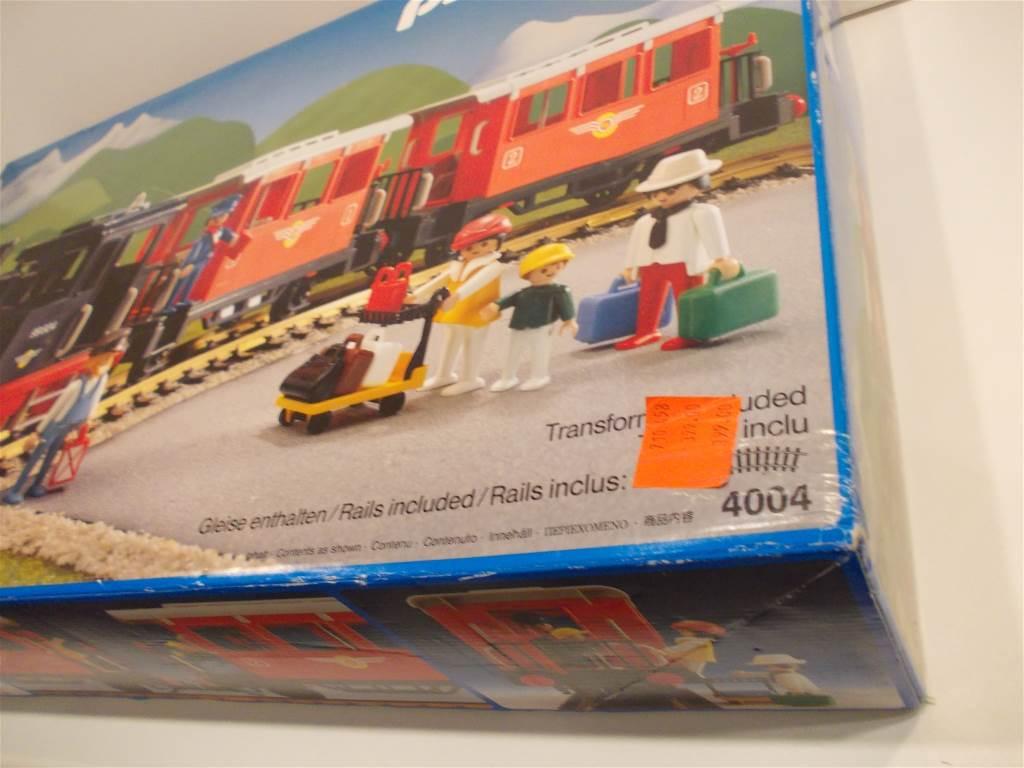 Playmobil 4004-fra - Passenger Train with Steam Locomotive - Box
