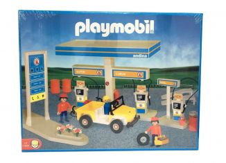 Playmobil - 1-3437-ant - Andina gas station & yellow jeep