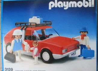 Playmobil - 3139v1-esp - Voiture de tourisme rouge