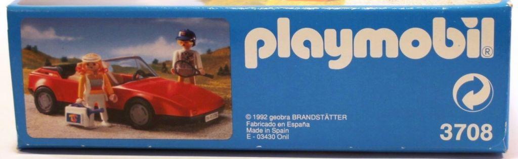 Playmobil 3708-esp - Red Sportscar - Back