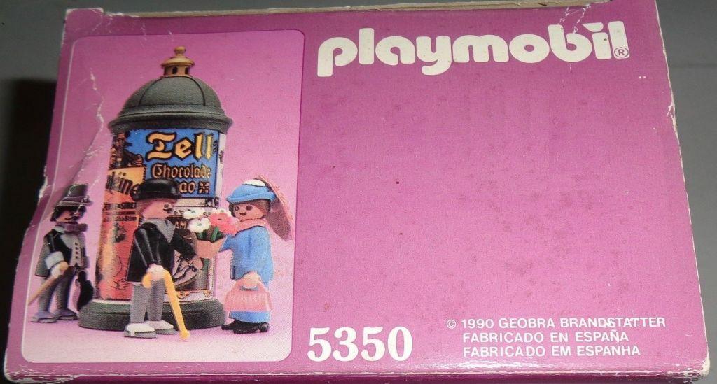 Playmobil 5350-esp - Victorian Kiosk - Back
