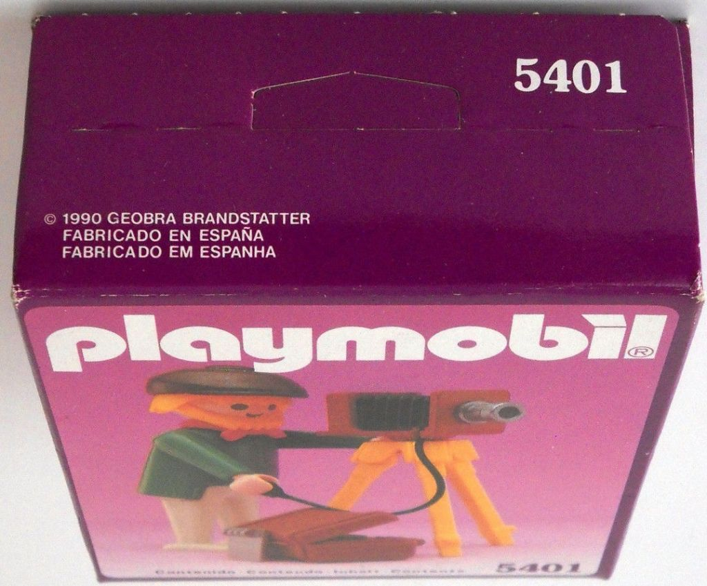 Playmobil 5401-esp - Photographer - Back